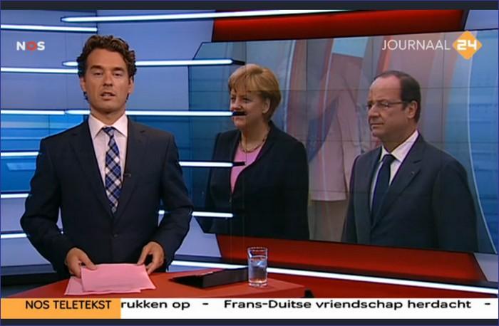 nos journaal merkel en hollande